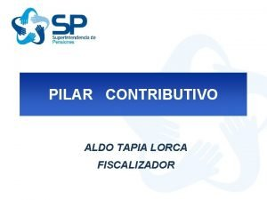 PILAR CONTRIBUTIVO ALDO TAPIA LORCA FISCALIZADOR Cuentas Individuales