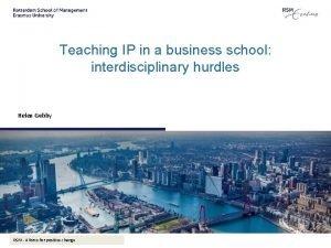Teaching IP in a business school interdisciplinary hurdles