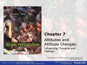 Chapter 7 Attitudes and Attitude Changes Influencing Thoughts