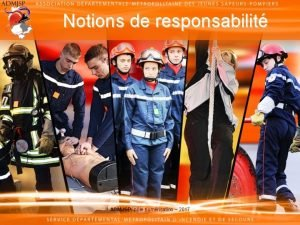 Notions de responsabilit ADMJSP ple numrisation 2017 Notions
