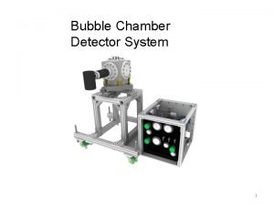 Bubble Chamber Detector System 1 ANL Bubble Chamber