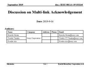 doc IEEE 802 11 191532 r 0 September
