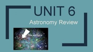 UNIT 6 Astronomy Review Which 2 scientists believed