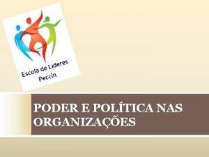 PODER E POLTICA NAS ORGANIZAES Poder O poder