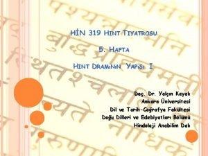 HN 319 HINT TIYATROSU 5 HAFTA HINT DRAMNN