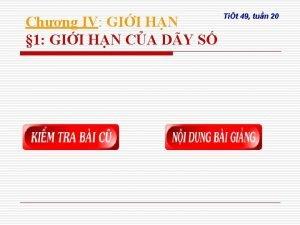 Chng IV GII HN 1 GII HN CA