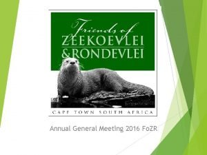 Annual General Meeting 2016 Fo ZR AGENDA Yearend