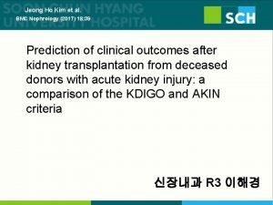 Jeong Ho Kim et al BMC Nephrology 2017