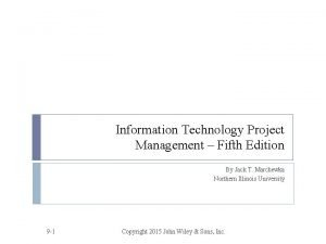 Information Technology Project Management Fifth Edition By Jack