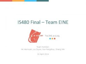 IS 480 Final Team EINE Team member He