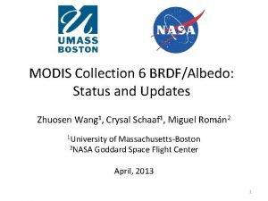 MODIS Collection 6 BRDFAlbedo Status and Updates Zhuosen