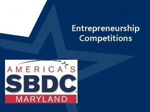 Entrepreneurship Competitions SU Entrepreneurship Competitions Invest in My
