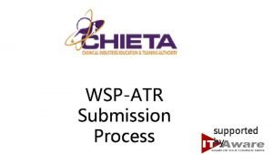 WSPATR Submission Process supported by Web Address www