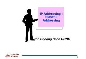 IP Addressing Classful Addressing Prof Choong Seon HONG