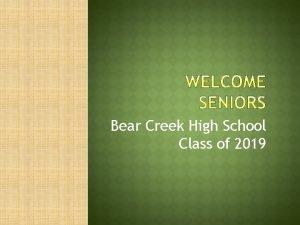 Bear Creek High School Class of 2019 Kristen