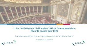 Loi n 2019 1446 du 24 dcembre 2019