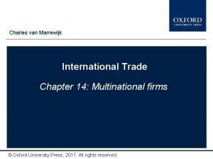 Charles van Marrewijk Type author names here International