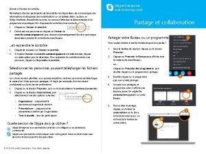 Skype Entreprise Donner dautres le contrle Guide de