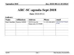 September 2018 doc IEEE 802 11 181382 r