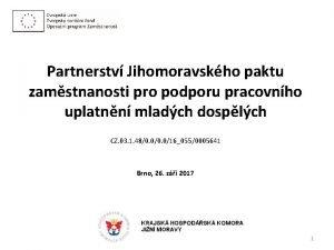 Partnerstv Jihomoravskho paktu zamstnanosti pro podporu pracovnho uplatnn