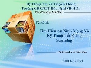 B Thng Tin V Truyn Thng Trng C