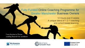 FullyFunded Online Coaching Programme for Greater Manchester Business