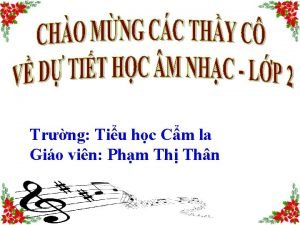Trng Tiu hc Cm la Gio vin Phm