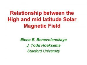 Relationship between the High and mid latitude Solar