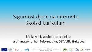 Sigurnost djece na internetu kolski kurikulum Lidija Kralj