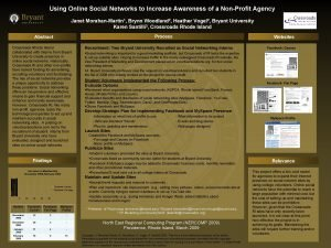 Using Online Social Networks to Increase Awareness of