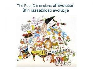 The Four Dimensions of Evolution tiri razsenosti evolucije