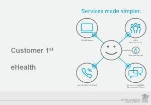 Customer 1 st e Health Streamlining Customer Service