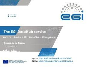 www egi eu EGIe Infra The EGI Data