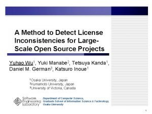 A Method to Detect License Inconsistencies for Large
