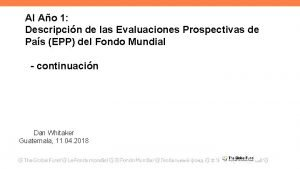 Al Ao 1 Descripcin de las Evaluaciones Prospectivas