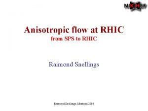Anisotropic flow at RHIC from SPS to RHIC