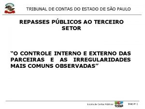 TRIBUNAL DE CONTAS DO ESTADO DE SO PAULO