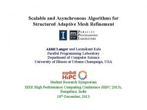 Scalable and Asynchronous Algorithms for Structured Adaptive Mesh