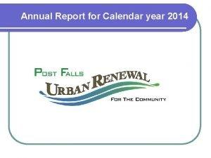 Annual Report for Calendar year 2014 l Annual