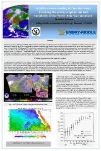 Satellite remote sensing in the classroom Tracking the