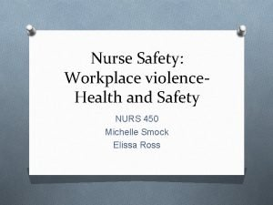Nurse Safety Workplace violence Health and Safety NURS