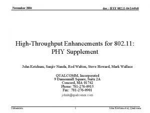 November 2004 doc IEEE 802 11 041449 r
