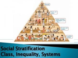 Social Stratification Class Inequality Systems What is Stratification