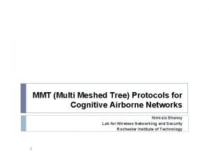 MMT Multi Meshed Tree Protocols for Cognitive Airborne