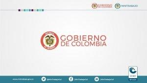 MINISTERIO DEL TRABAJO COLOMBIA COORDINACIN MINISTERIO DEL TRABAJO
