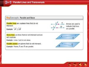 Identify Parallel and Skew Relationships A Name all