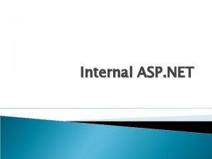 Internal ASP NET Http Application Factory Http Application