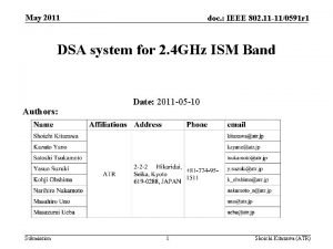 May 2011 doc IEEE 802 11 110591 r