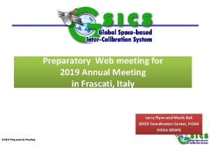 Preparatory Web meeting for 2019 Annual Meeting in