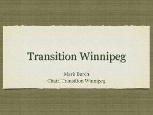 Transition Winnipeg Mark Burch Chair Transition Winnipeg Overview